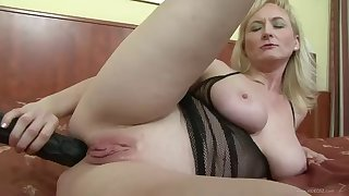 brutal anal sex for a busty blonde milf