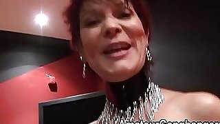 Mature sandy-haired takes two together in her pussy