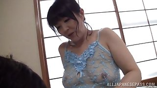 salacious mature asian with natural tits getting plowed hardcore