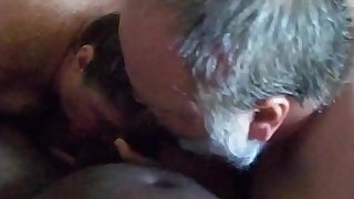 Gay Bear And Mature Both Blowing Dick