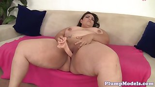 alluring mature fatty plays with kinky toys